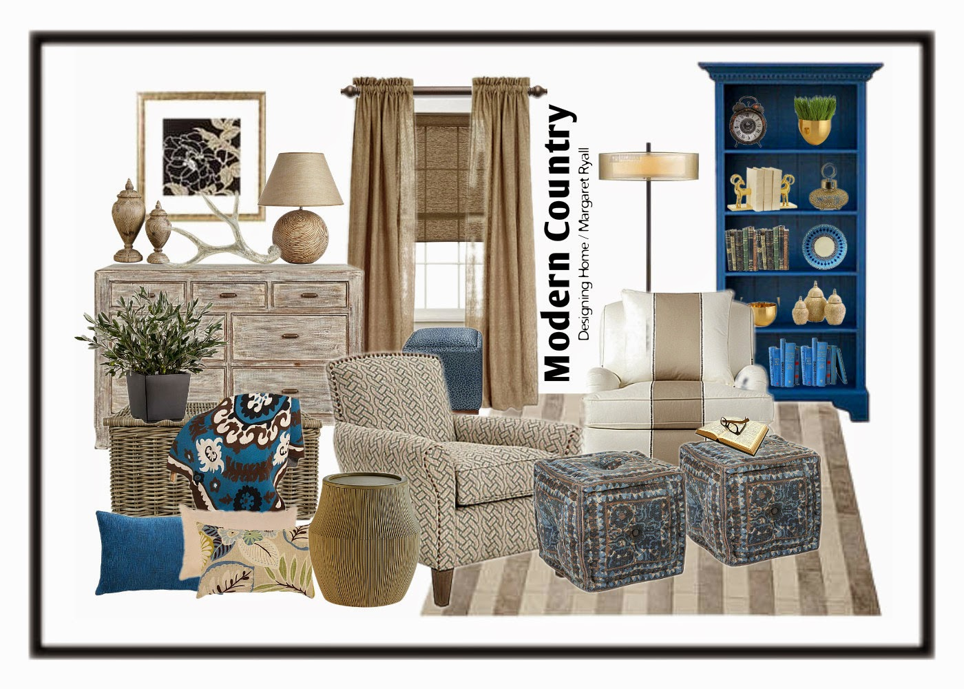 Designing Home; colour trends 2015, modern country