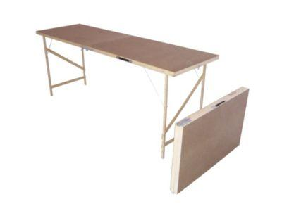 Hardboard Decorating Table Natural Colour Wooden Dining