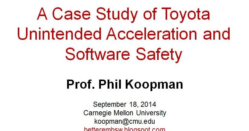 Toyota Case Study Essay