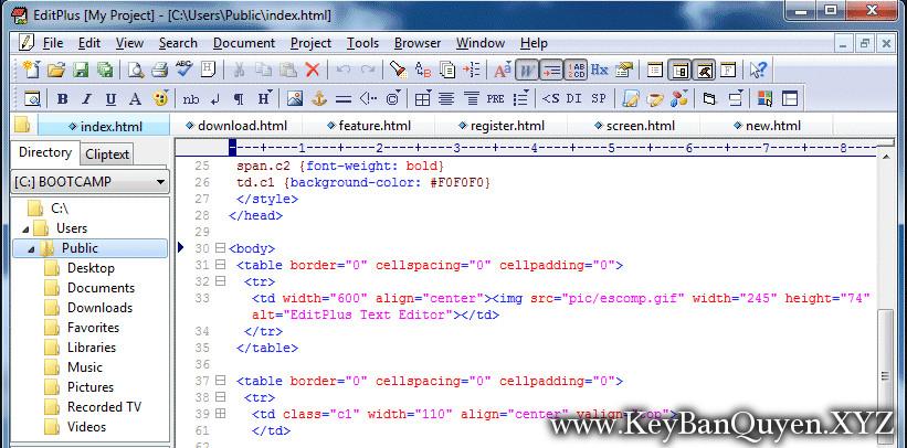 EditPlus 5.1 Build 1778 Full Key, Trình soạn thảo văn bản với khả năng FTP, FTPS và sftp