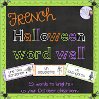 Want a painless way to enrich your students' vocabulary?  This word wall is a perfect decoration for your October classroom!