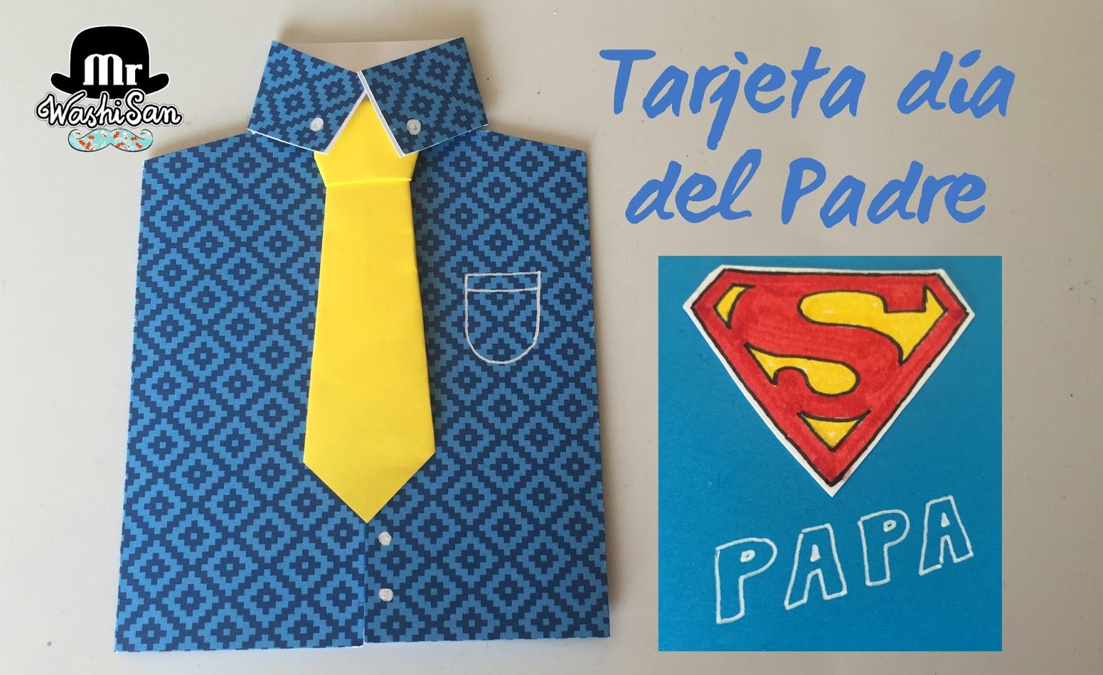 Mr WashiSan: Tarjeta para el día del padre : superpapá