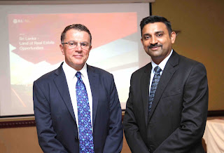 Steven Mayes, MD – Sri Lanka Operations and Sunil Subramanian, Head – Transactions at the launch of JLL's annual Real Estate Report