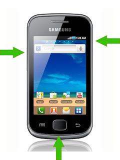 графічне блокування на андроїд смартфоні samsung galaxy S5660