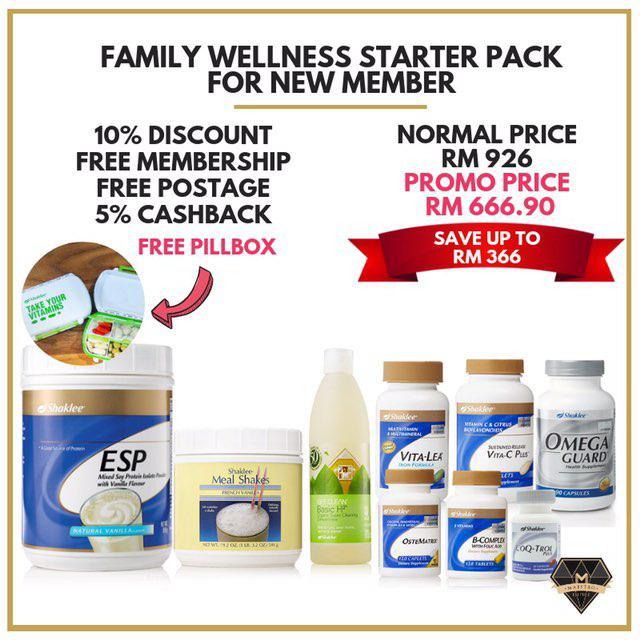 promosi set kesihatan keluarga shaklee