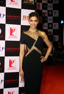 Deepika Padukone hourglass figure in See-through Black Gown