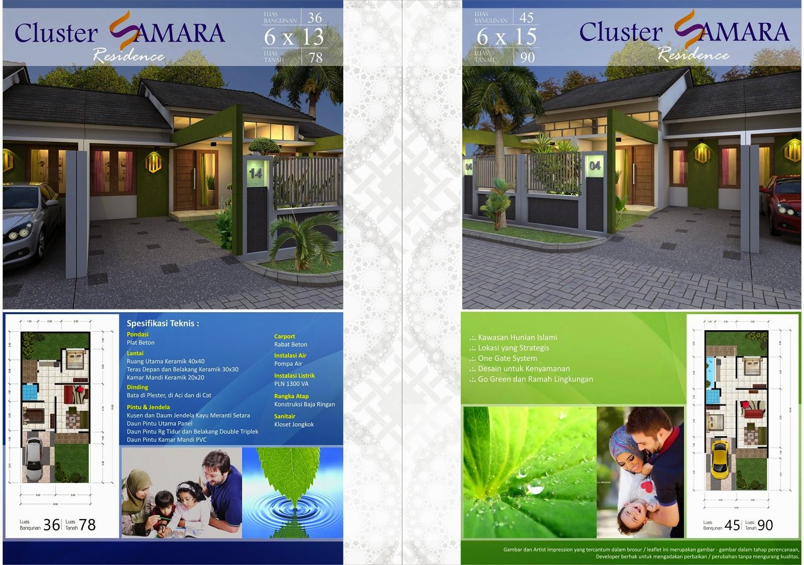 Desain Rumah Minimalis Perumahan Samara Residence - Brosur