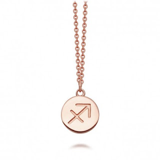 Rose Gold Vermeil Biography Zodiac Necklace - Astley Clarke Outlet