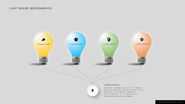 Shining Light Bulb Infographics PowerPoint Slide Type A