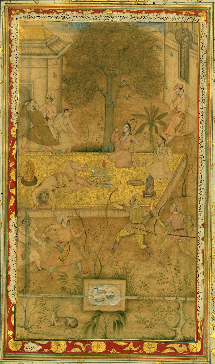 Page from a Manuscript of Akbarnāmah (Biography of the Mughal Emperor Akbar) - Mughal Painting, 16th Century