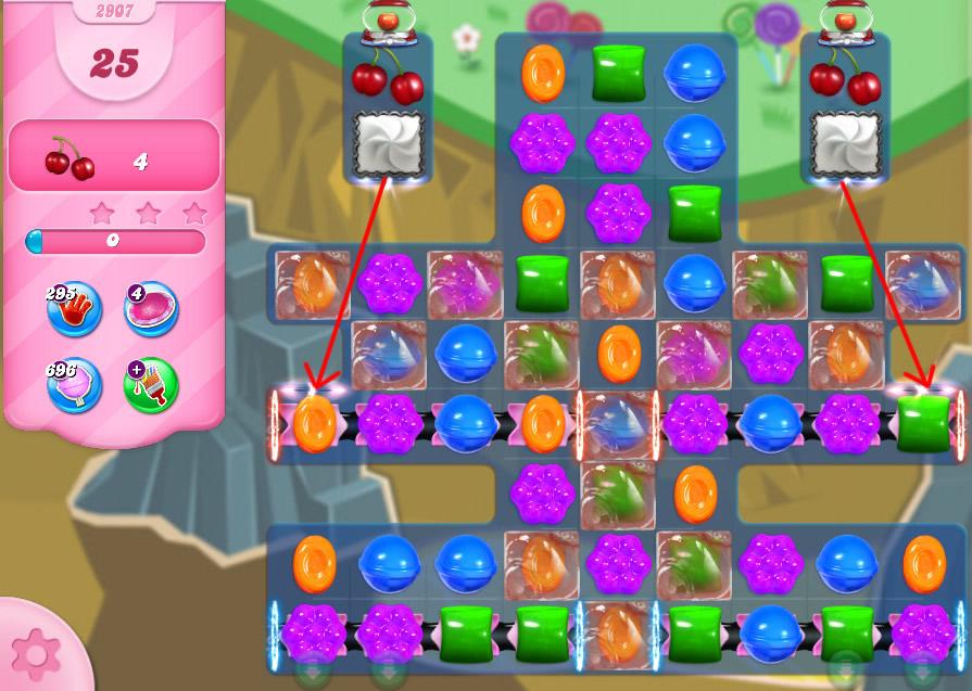 Candy Crush Saga level 2907