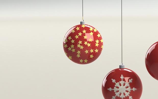 detalle de estrellas en bola de navidad con solidworks