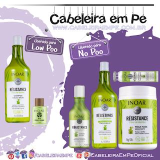 Shampoo e Óleo (Low Poo); Máscara (No Poo e Co Wash), Condicionador, Ampola e Leave in (liberados para No Poo) Résistance Fibra de Bambu - Inoar