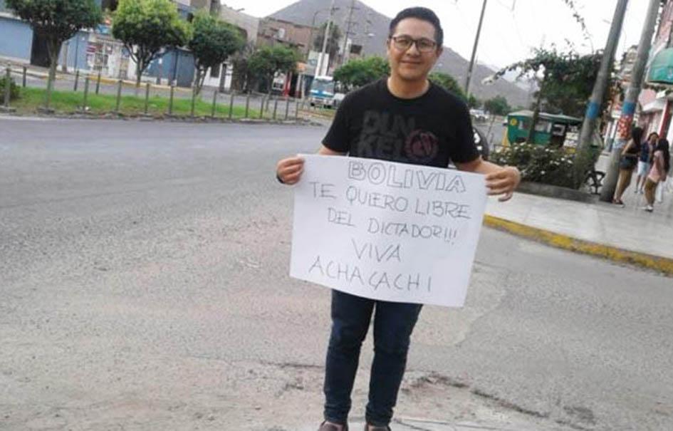 Larrazabal salió hacia Perú a mediados de 2018 luego de seis meses en San Pedro / FACEBOOK