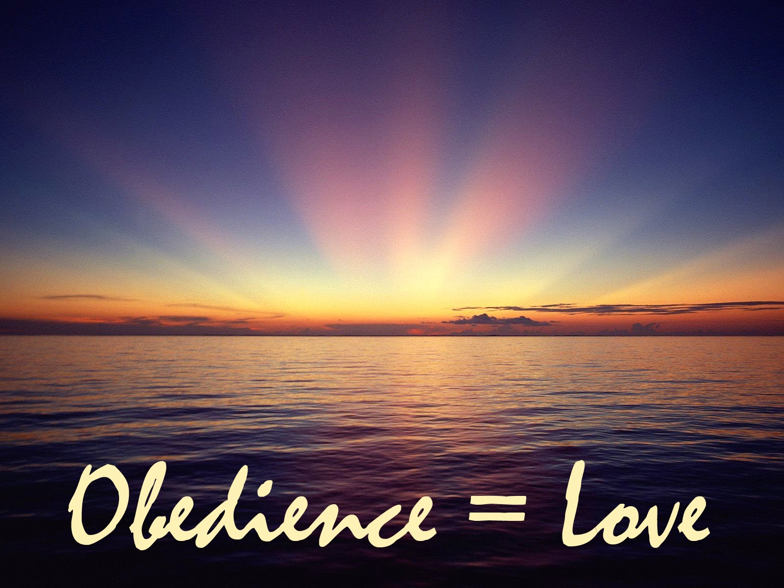 Ever consider the connection between obedience and love?  Thoughts at DTTB.