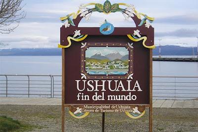 CARTEL DE LA CIUDAD DE USHUAIA
