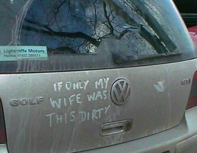 Message written in a dirty car