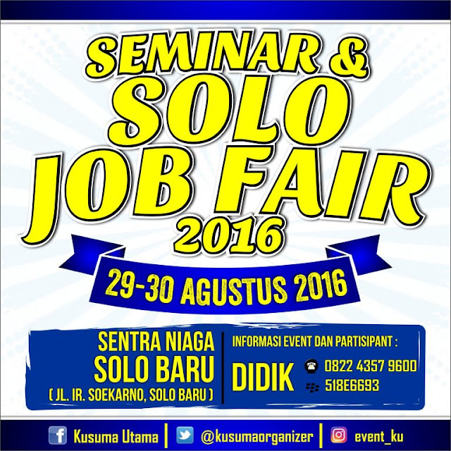 Solo Job Fair 2016 - Jadwal Event