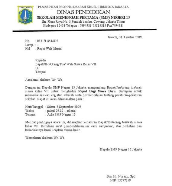 Contoh Surat Atas Nama Bupati Suratmenyurat Net Bertemuco