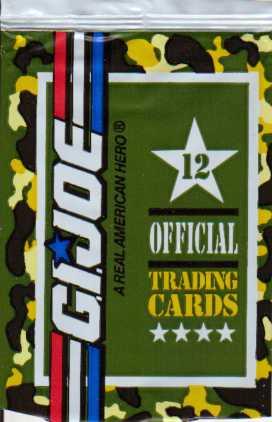 card wrapper for the 1991 Impel G.I. Joe trading card set. Image source: www.yojoe.com
