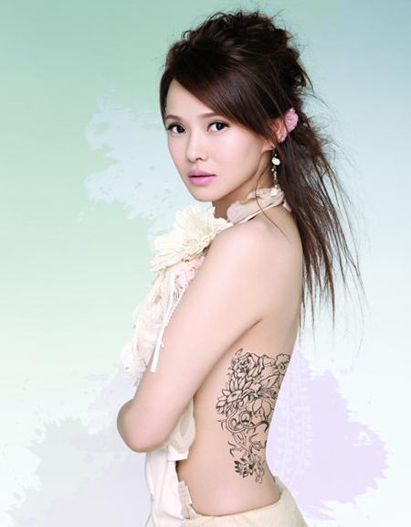 Hinh Xam Hoa Van Canh Suon