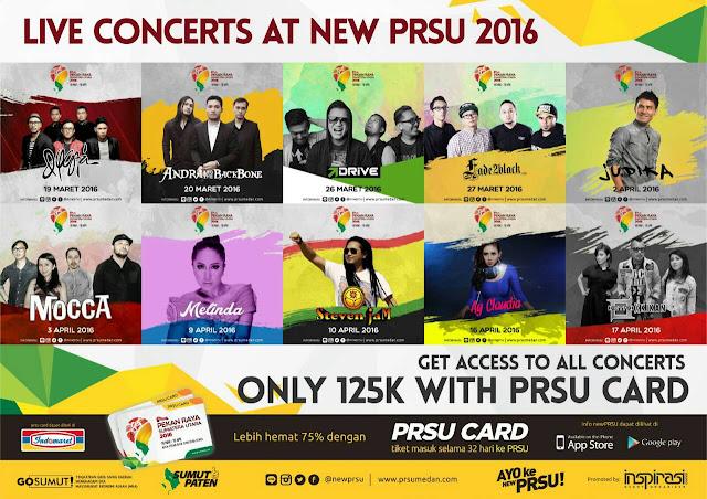 Jadwal Konser Artist di Pekan Raya Sumatera Utara - #PRSU2016