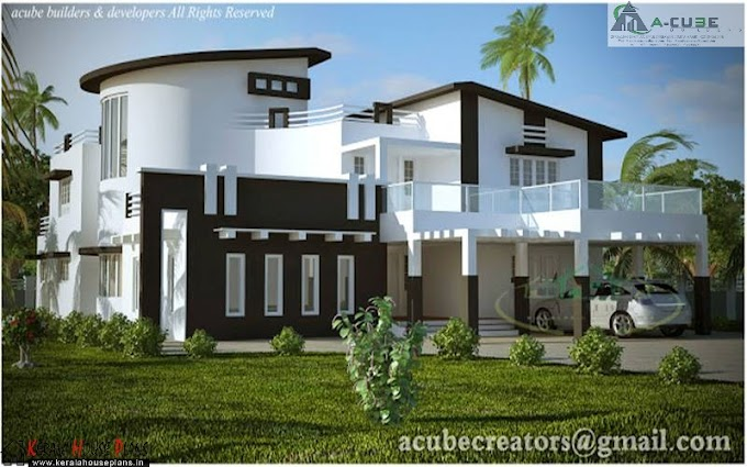 Modern independent villa Design and elevation