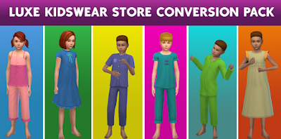 Luxe Kidswear Store Conversion Pack for Sims 4 ~ Cepzid Sims