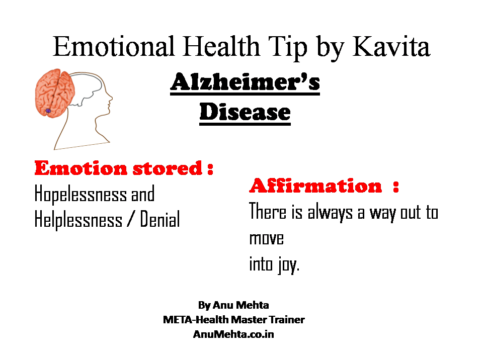Emotional Health Tip- Alzheimer's Disease-There is always a
