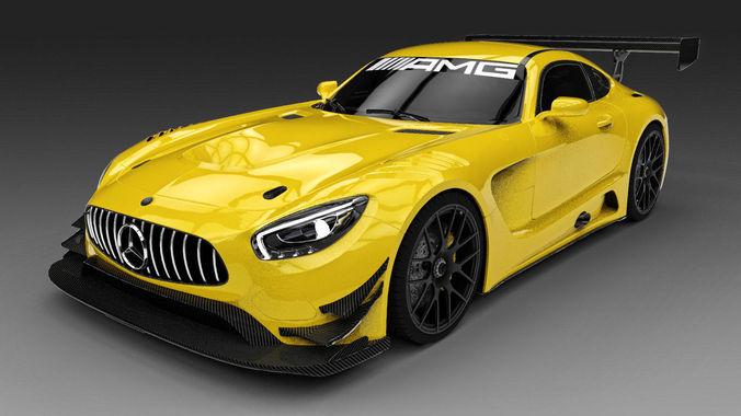 3dsMax高精度2016款GT3汽車3D模型下載