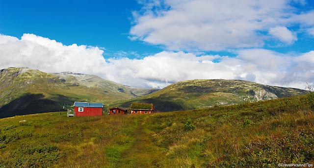 Randonnée jusqu'à la ferme d'Hovdungo, Aurland, Norvège