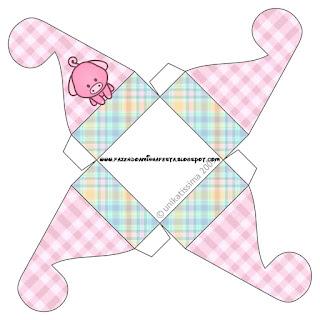 Caja para cupcakes, chocoltes o golosinas de La Granja Bebés en Rosa.