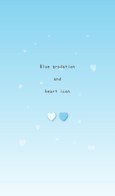 Blue gradation and heart icon