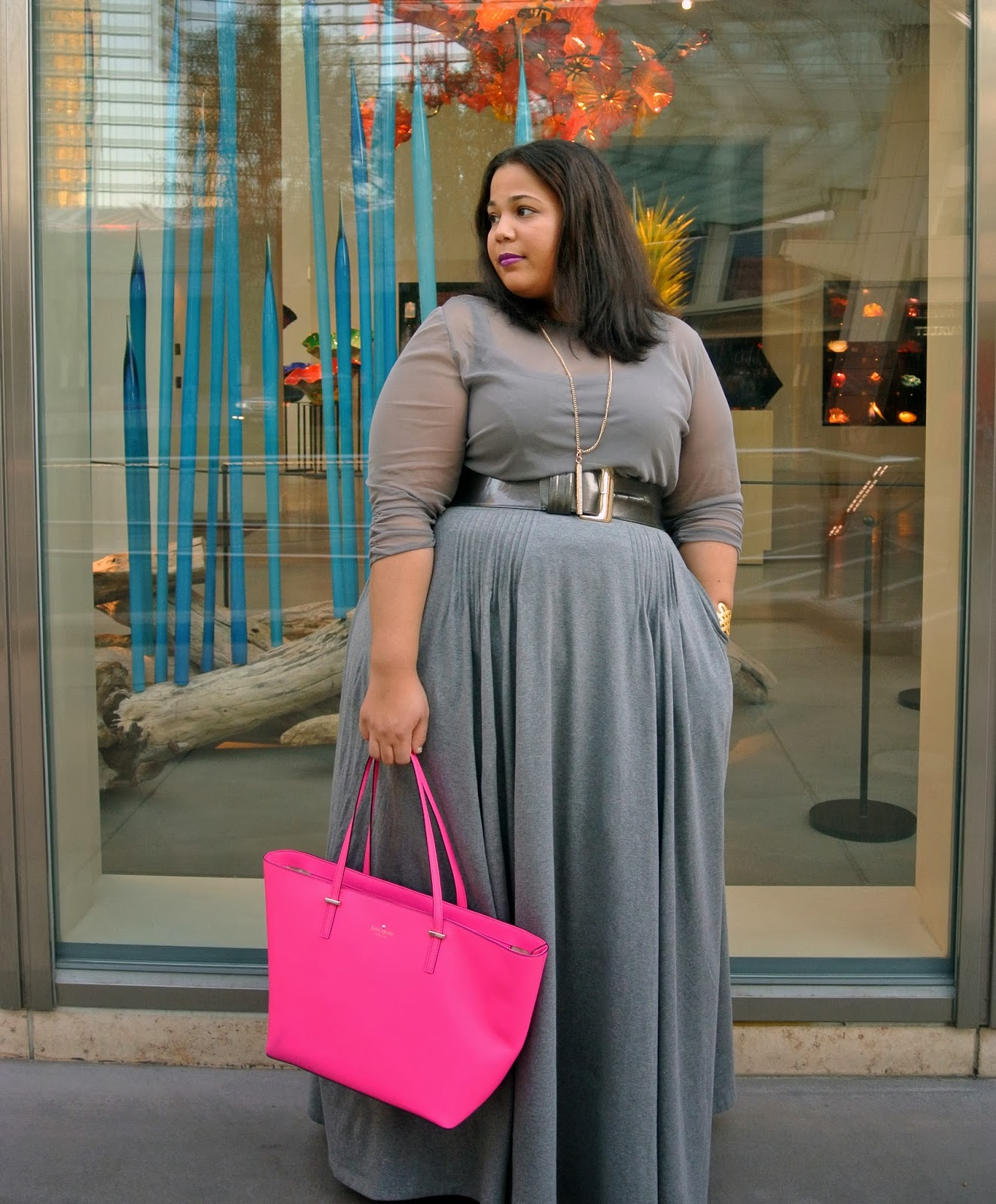 Plus size Maxi skirt, plus size clothing, kate spade, gray
