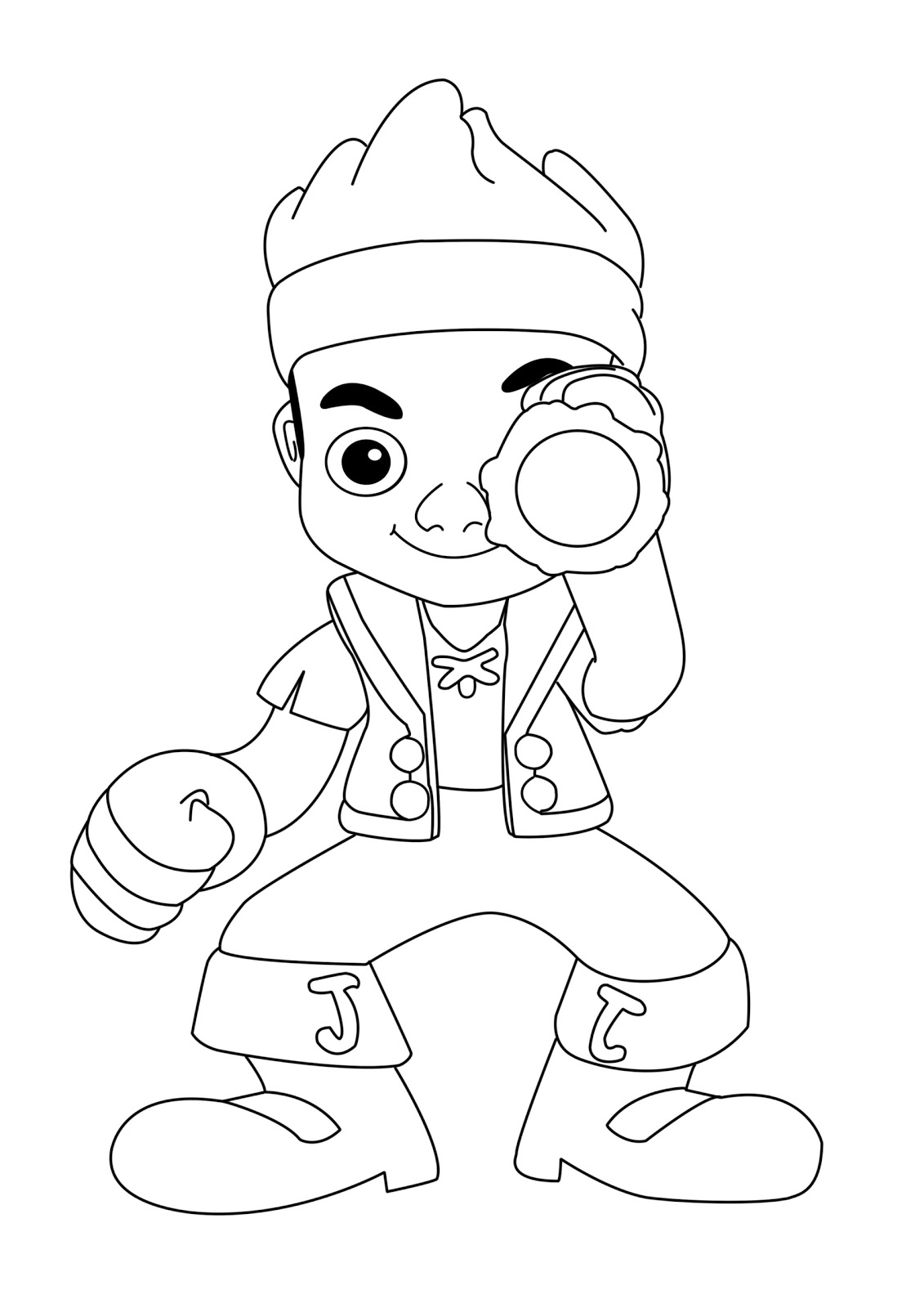 Jake and the neverland pirates coloring pages online for Jake the pirate coloring pages