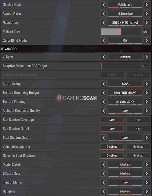 Apex Legends için En İyi Ayarlar - FPS'yi Artırın, Performansı Artırın!