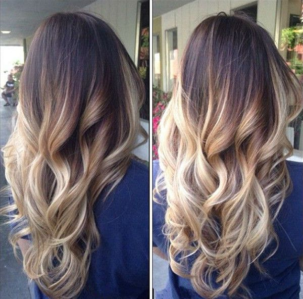 Ombre for semi-permanent hair colors
