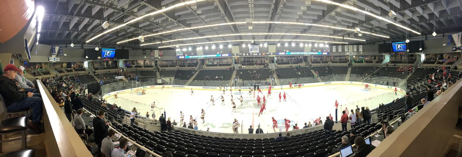 The bu hockey blog rink tour for Scheels fargo