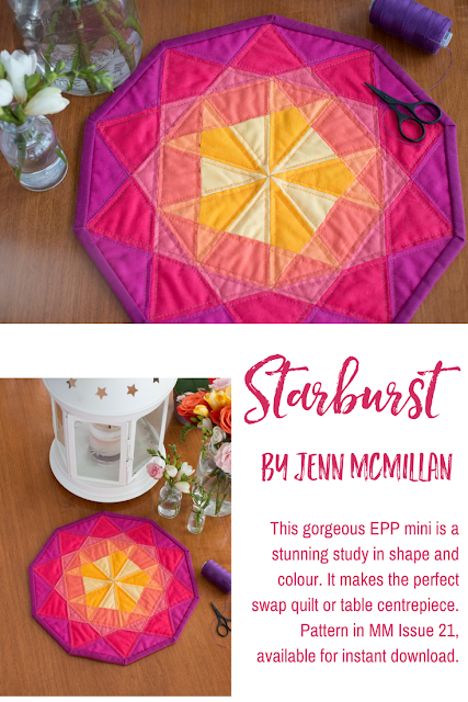 Make Modern Issue 21 Starburst Jenn McMillan quilt pattern EPP