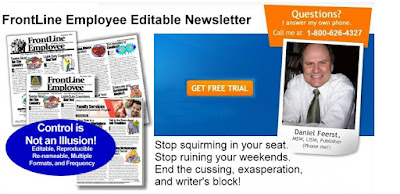 free trial to frontline employee newsletter and free articles for three months