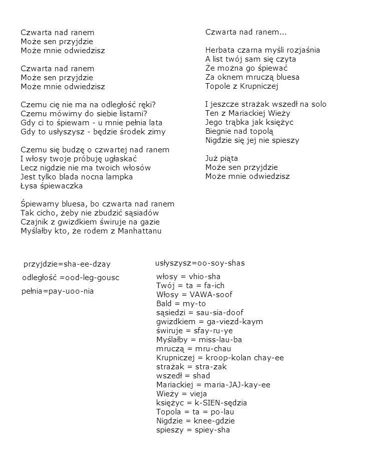 Lyric blues songs lyrics : Polish Songs With Lyrics & Chords