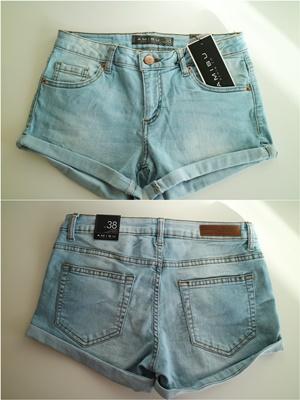 Shoppingausbeute | Januar - www.josieslittlewonderland.de , haul, new yorker, jeans shorts, light blue, amisu, hellblaue jeans shorts