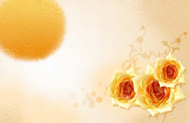 تحميل خلفية أعراس زهور صفراء ذهبيه مفتوحه للفوتوشوب ,PSD Yellow Floweral Wedding Packground