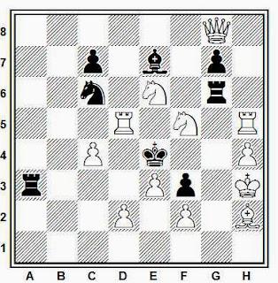 Problema de mate en 2 compuesto por R. Candela Sanz (3º Recomendado, Problemas SEPA, 1966)