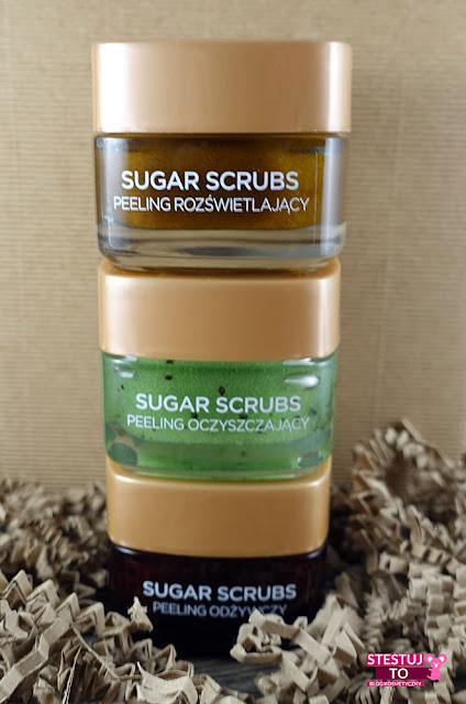 loreal sugar scrubs peelingi do twarzy