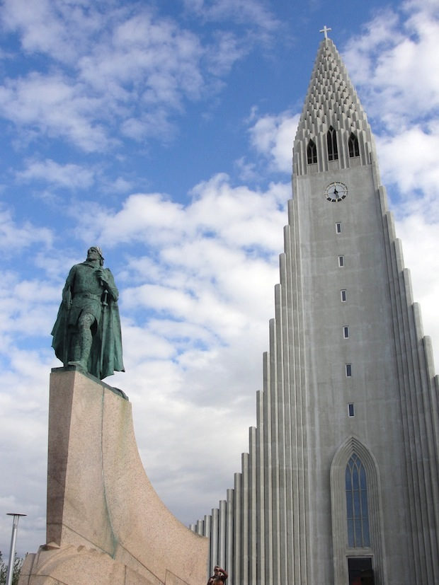 statue of viking Leif Eriksson in Iceland which was a gift from the United States in 1930