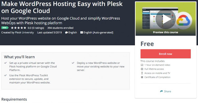 [100% Free] Make WordPress Hosting Easy with Plesk on Google Cloud