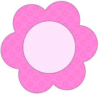 Tarjeta con forma de flor de Corazones Rosa.