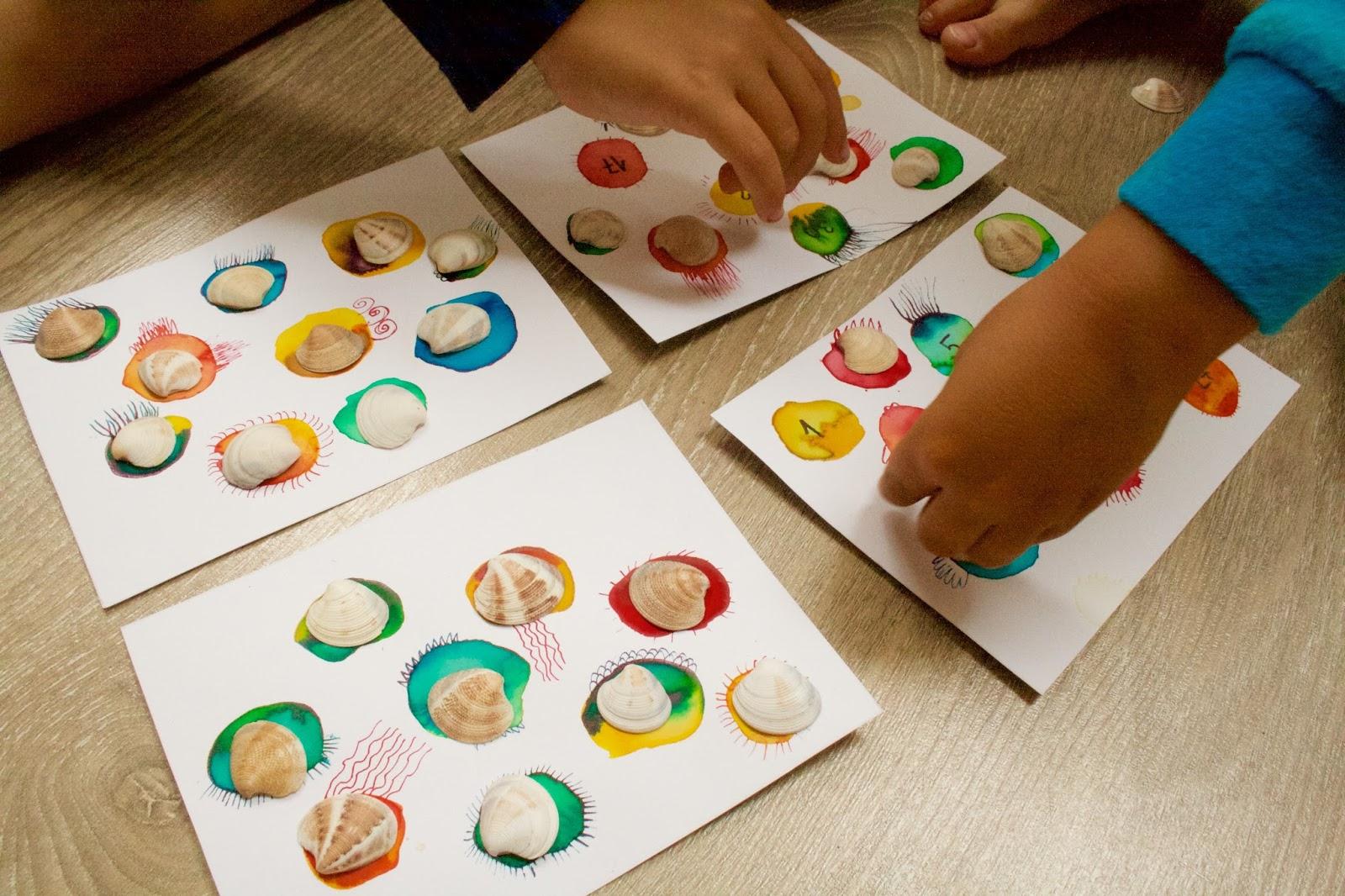 rodinná hra, DIY, malovaná hra, hra pro nejmenší, hra na dovolenou