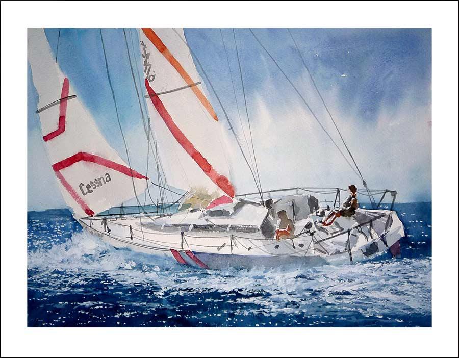 Leos acuarelas rub n de luis algunos cuadros de barcos for Cuadros grandes dimensiones